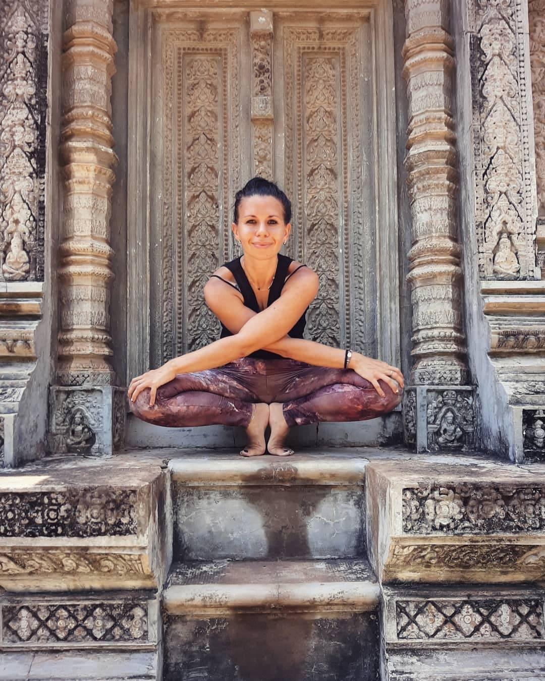 Camilla at Angkor Wat