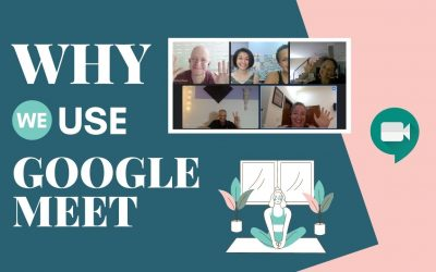 Why are Yoga Space classes taught on Google Meet?